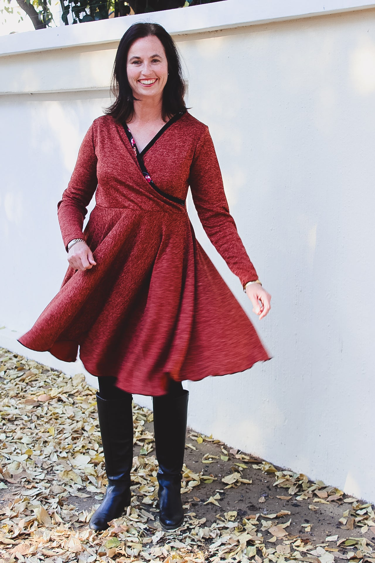 Callie Wrap Dress sewing pattern Sew Along Day 3