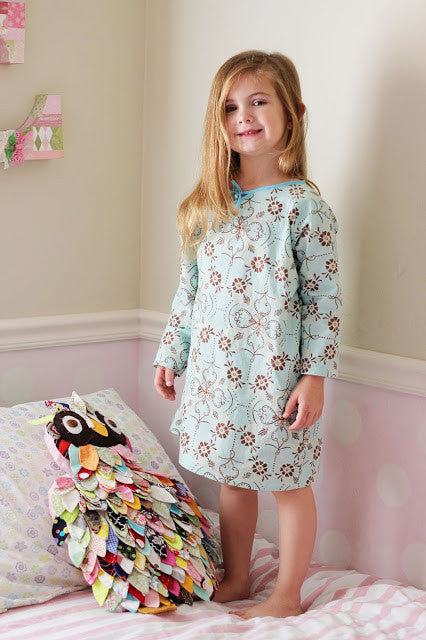 Nightgown sewing pattern for girls!