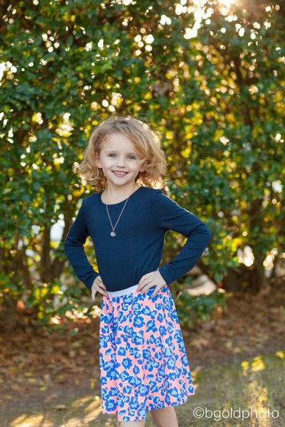 Girls Semicircle Skirt sewing pattern sizes 2-16