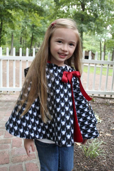 Cozy Hooded Cape for Girls (Sizes 3m-10yrs)