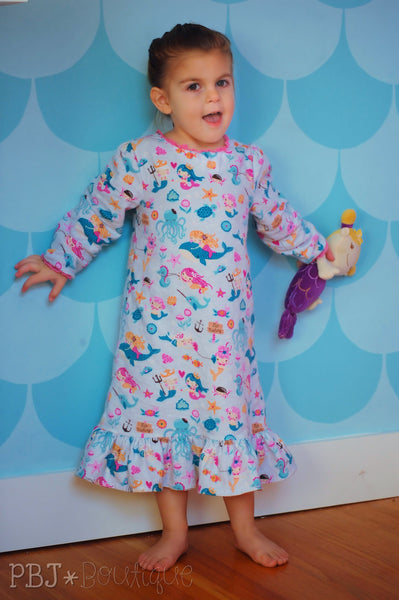Girls Dream Catcher Nightgown Pattern I Nightgown Sewing