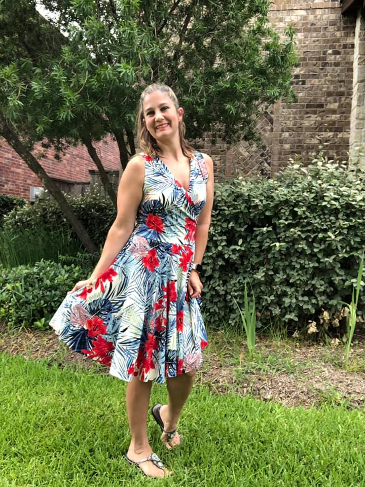 The Callie Wrap Dress sewing pattern for Women