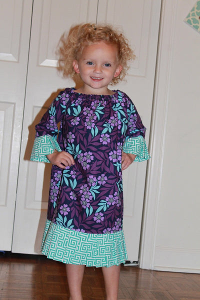 Com-PLEAT-ly Perfect Peasant Dress for Girls (Sizes 6m-10yrs)