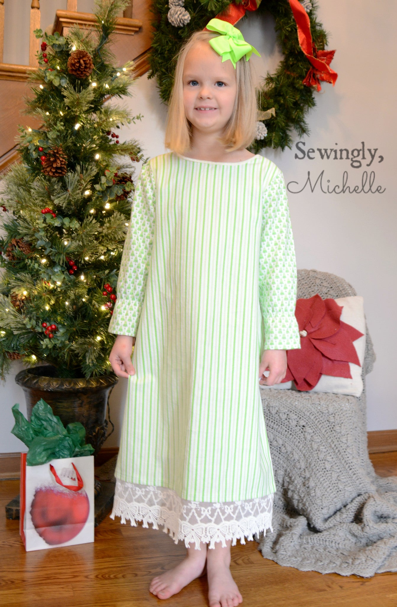 Girls Dream Catcher Nightgown Sewing Pattern