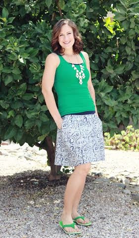 12 Simple Skirts sewing pattern for Women