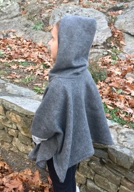 Girl's Cowl Neck Poncho with Hood sizes 2T-16