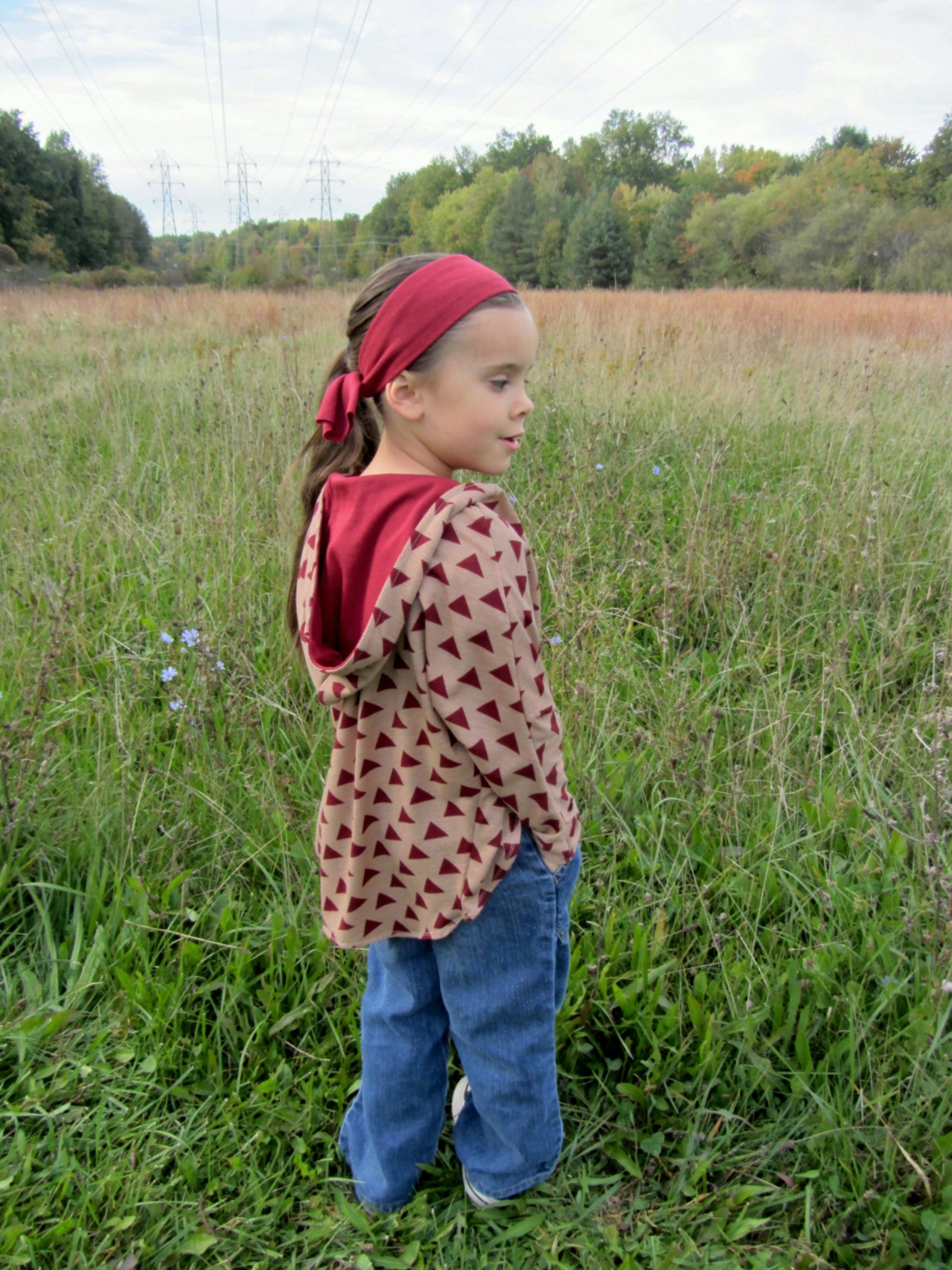 Girls' Cardigan with Hood PDF Sewing Pattern