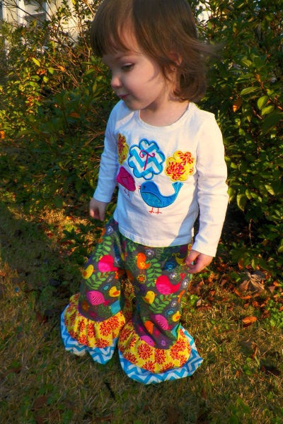 Ruffles Galore Girl's Pants Sewing Pattern