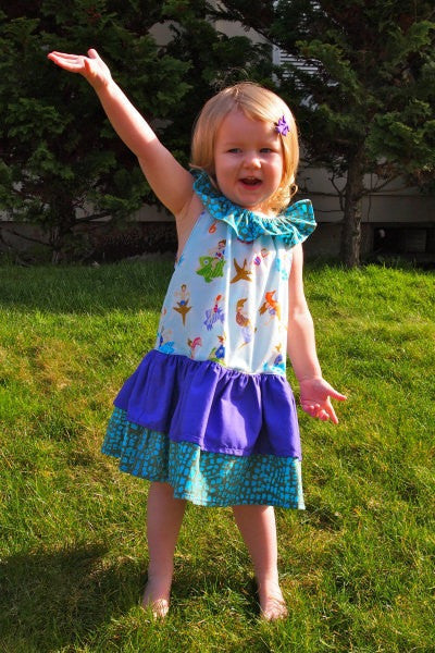 The All Ruffled Up Dress for Girls (Sizes 6m-10yrs)
