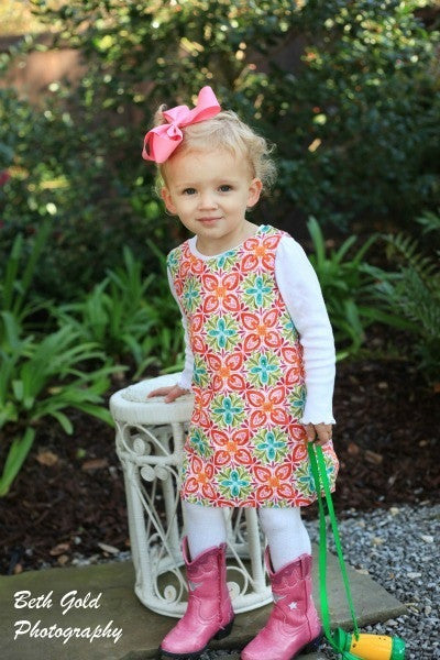 Classic A-Line Dress for Girls (Sizes 6m-10yrs)