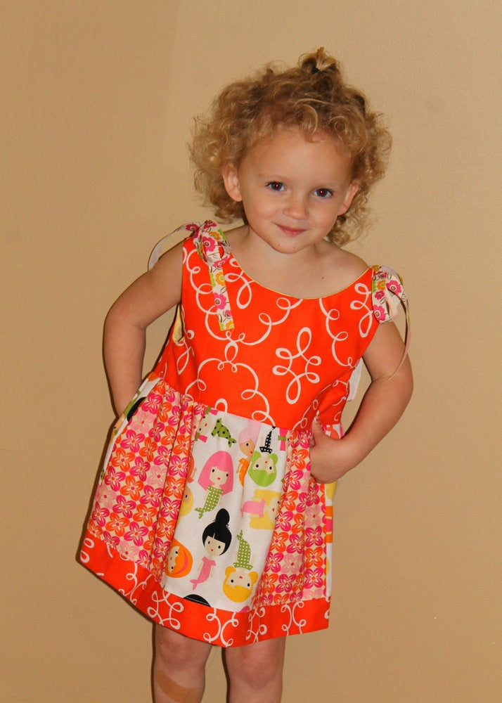 Love Me Knots Dress for Girls (Sizes 6m-12yrs)