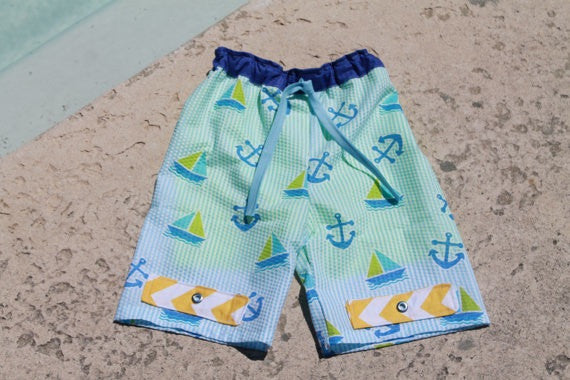 Boy's Swim Trunks (Sizes 3m-12yrs)
