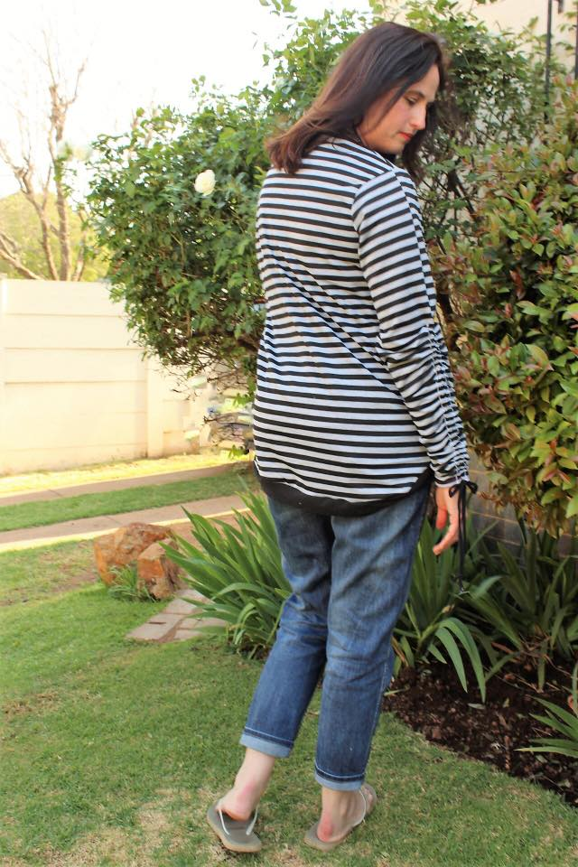 Drawstring Sleeve Sweater Top PDF sewing pattern