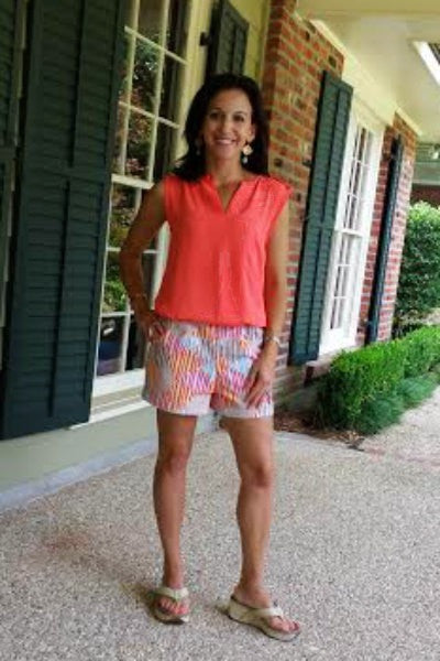 French Market Shorts for Women PDF sewing pattern