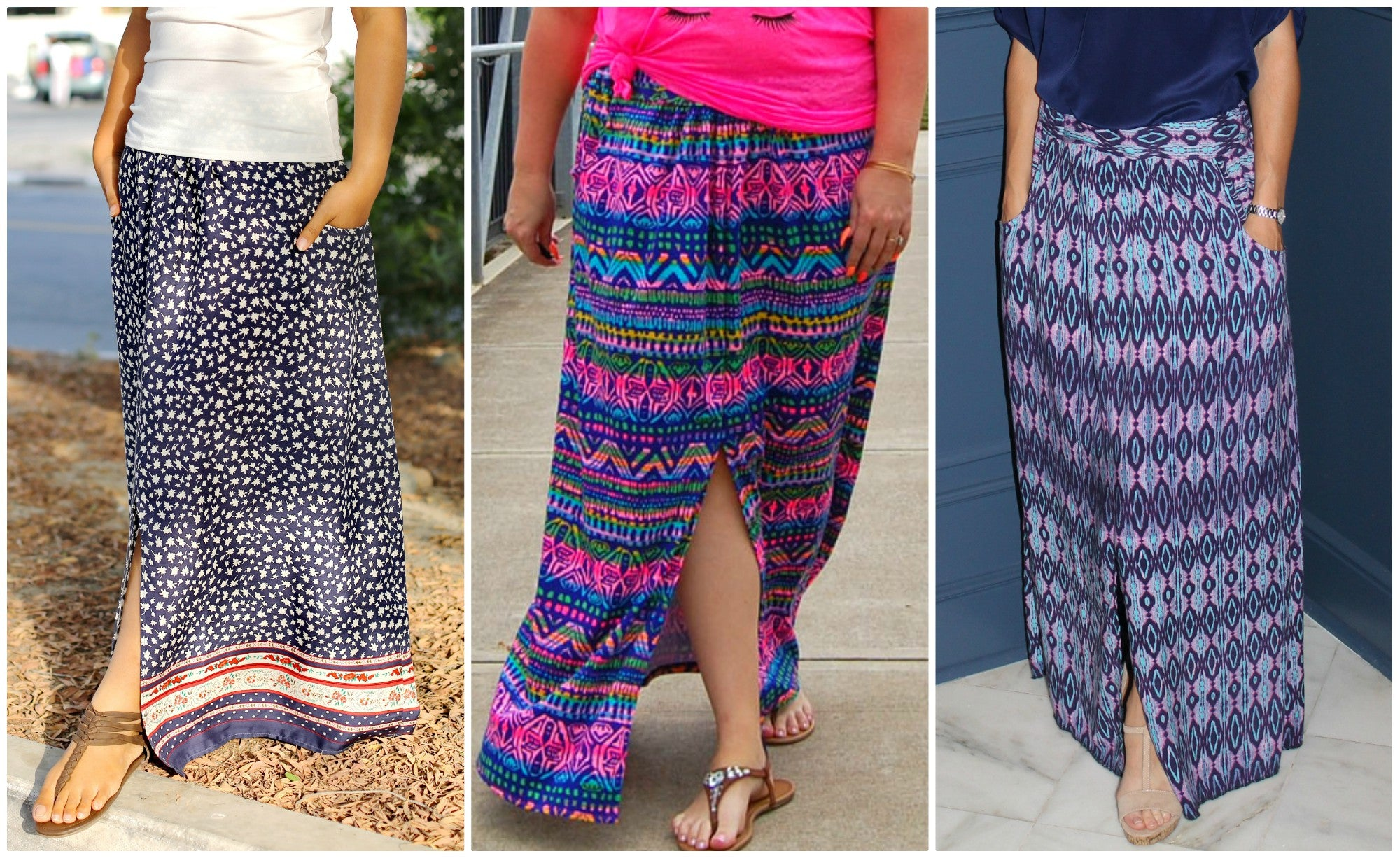Women's Orleans Avenue Maxi Skirt pdf sewing pattern