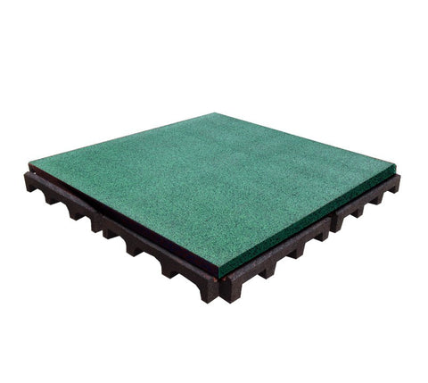 Rubber Designs interlocking rubber floor tiles - 75/25 EPDM