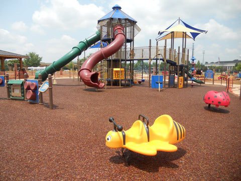 Image of playground with bonded rubber mulch safety surface