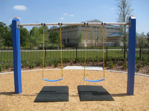 Image of swing safe mats under swings