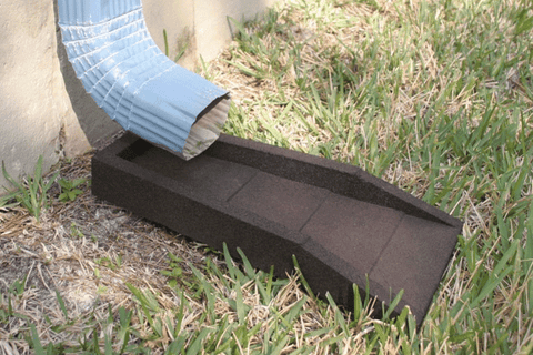 Image of rubber downspout splash block splash guard