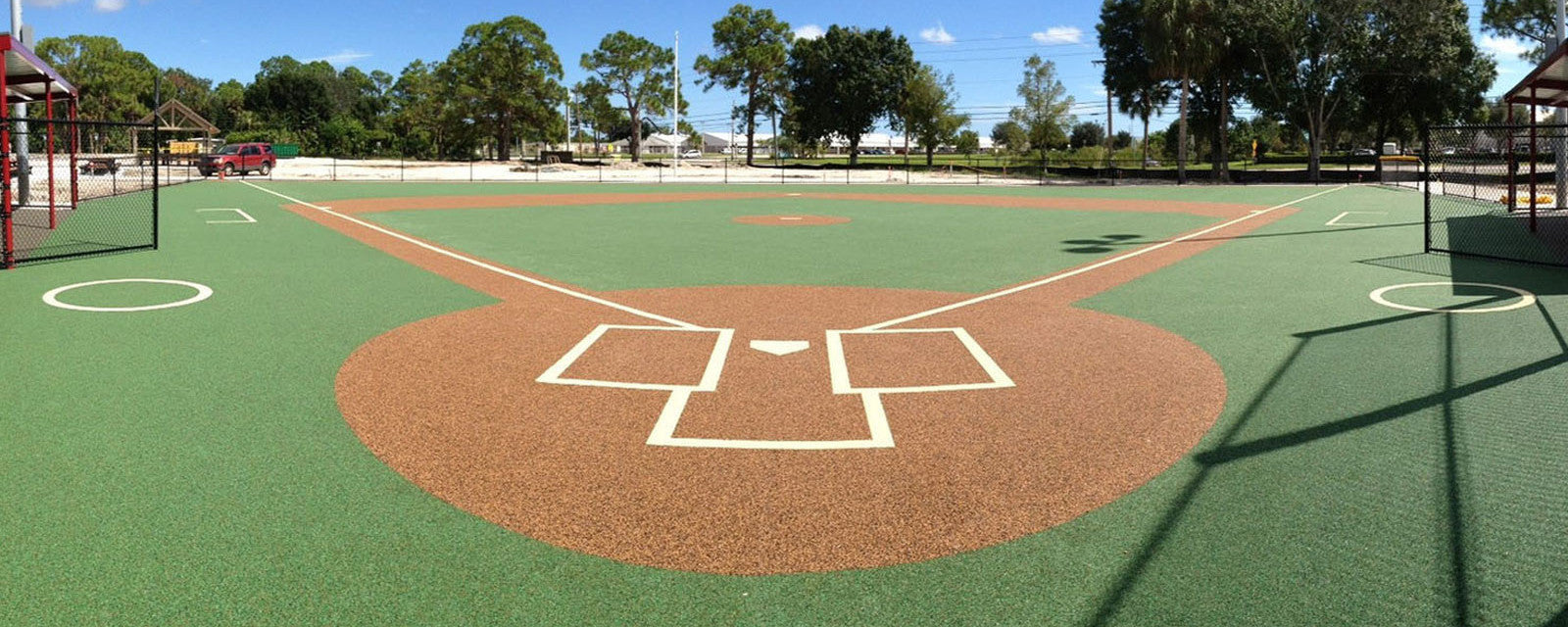 rubber baseball field