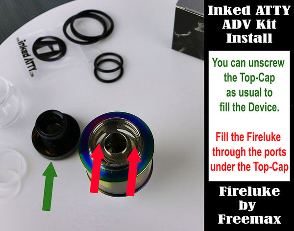 Inked ATTY's ADV Kit Installation Guide for the Fireluke by Freemax