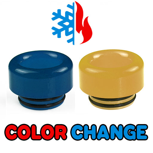 "Blue to Yellow Color Change Drip Tip - Mouth Piece - ( 810 Size  ) ""12.5mm Socket"""