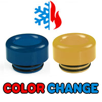 Blue to Yellow Color Change Drip Tip - Mouth Piece - ( 810 Size  )