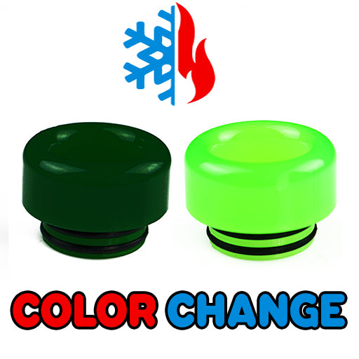 "Dark to Light Green Color Change Drip Tip - Mouth Piece - ( 810 Size  ) ""12.5mm Socket"""