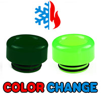 Dark to Light Green Color Change Drip Tip - Mouth Piece - ( 810 Size  )