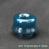 "Dark Turquoise to CREAM - Color Change Drip Tip - Mouth Piece - 810 Size ""12.5mm Socket"""