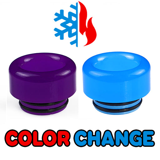 "Purple to Blue Color Change Drip Tip - Mouth Piece - ( 810 Size  ) ""12.5mm Socket"""