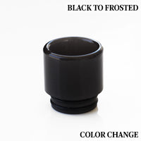 Black to Frosted - Color Change Drip Tip - Mouth Piece - ( 810 Size  )
