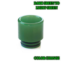 Dark Green to Light Green - Color Change Drip Tip - Mouth Piece - ( 810 Size  )