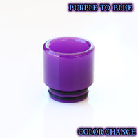 PURPLE to BLUE - Color Change Drip Tip - Mouth Piece - ( 810 Size  )