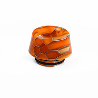 Orange Viper Resin Drip Tip - Mouth Piece - Heat Resistant - ( 810 Size  )