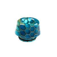 Turquoise Viper Resin Drip Tip - Mouth Piece - ( 810 Size  )