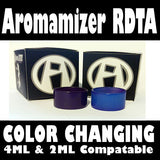 Aromamizer 2ML & 4ML Purple to Blue Color Change Glass Inked ATTY Pyrex