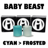 Baby Beast - TFV8 - Cyan to Frosted Color Change Inked ATTY Pyrex Replacement Glass fits Alien Kit