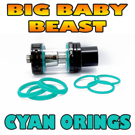 CYAN ORINGS BIG Baby Beast TFV8 Color O-Rings