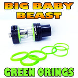 GREEN ORINGS BIG Baby Beast TFV8 Color O-Rings