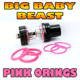 PINK ORINGS BIG Baby Beast TFV8 COLOR O-Rings
