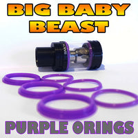 PURPLE ORINGS BIG Baby Beast TFV8 O-Rings