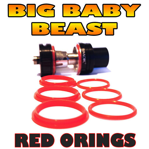 RED ORINGS BIG Baby Beast TFV8 O-Rings