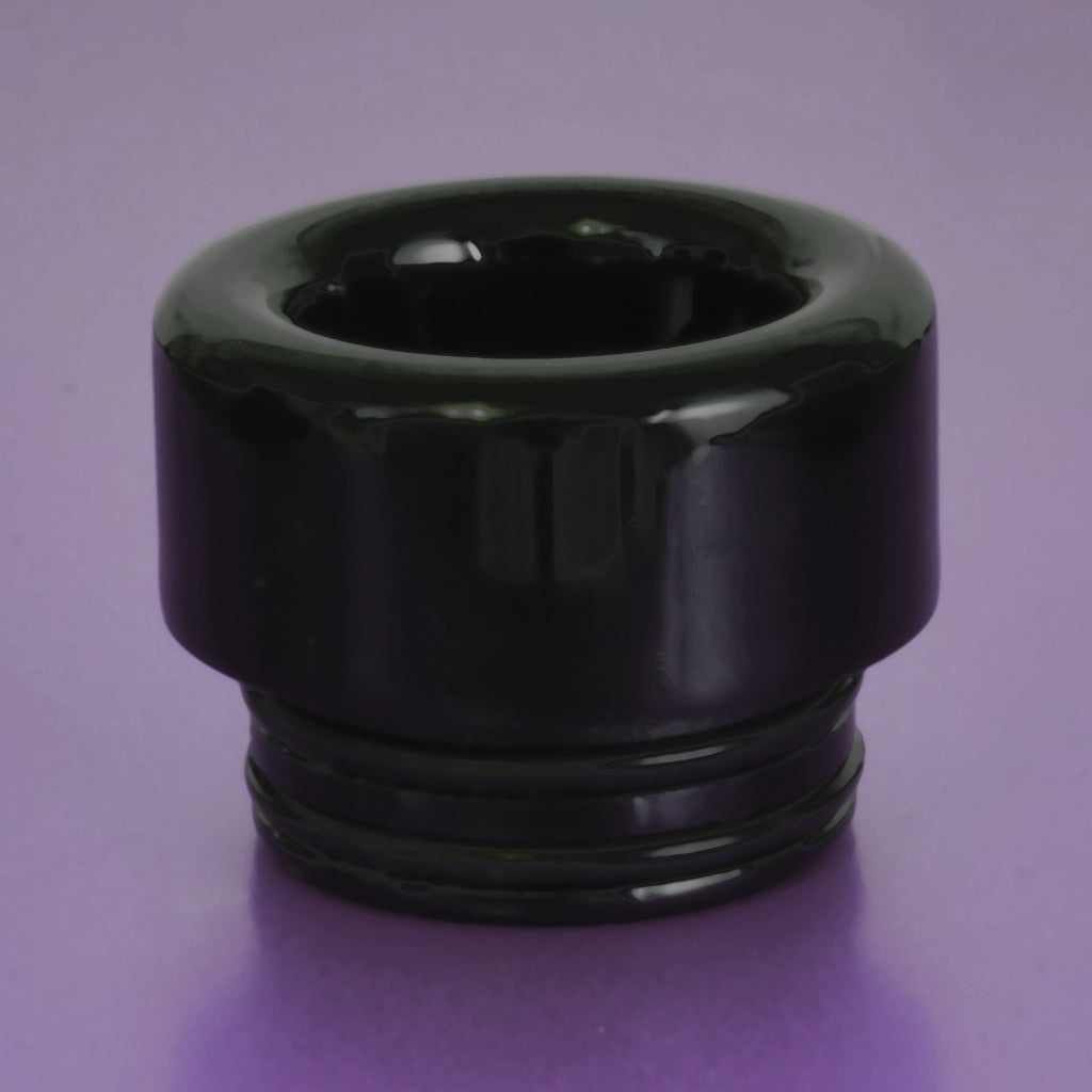 "BLACK - RESIN Drip Tip - Mouth Piece - Heat Resistant - ( 810 Size  ) ""12.5mm Socket"""