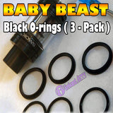 BLACK ORINGS Baby Beast TFV8 O-Rings fits Alien Kit