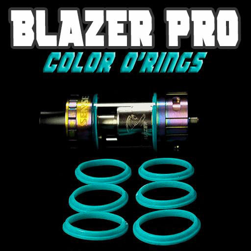 "Blazer PRO ""Sense"" - ""CYAN"" Color Orings Seals Gaskets ( 3x Pair ) by Inked ATTY"