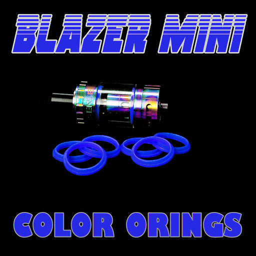 "Blazer Mini ""Sense"" - ""BLUE"" Color Orings Three Pair by Inked ATTY Replacement O'Rings"