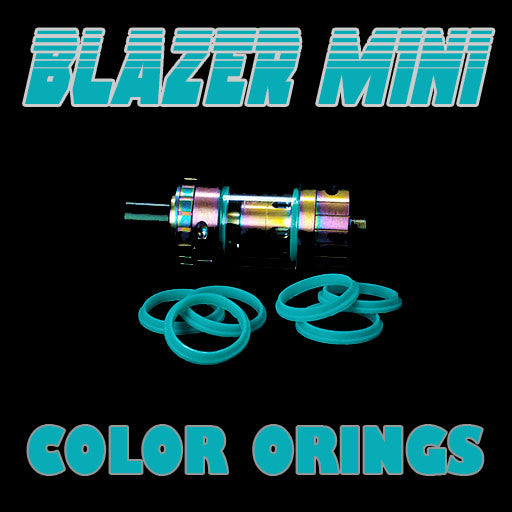 "Blazer Mini ""Sense"" - ""CYAN"" Color Orings Three Pair by Inked ATTY Replacement O'Rings"