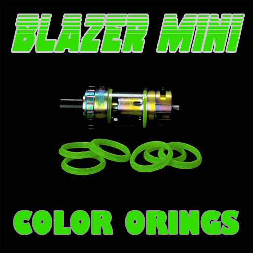 "Blazer Mini ""Sense"" - ""GREEN"" Color Orings Three Pair by Inked ATTY Replacement O'Rings"