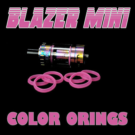 "Blazer Mini ""Sense"" - ""PINK"" Color Orings Three Pair by Inked ATTY Replacement O'Rings"